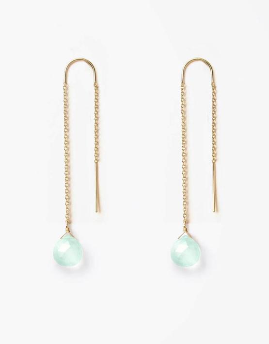 Wanderlust Life Waterfall Earrings - Sea Glass Chalcedony