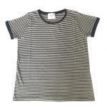 Jumper 1234 Narrow Stripe Tee - Aluminium/Navy