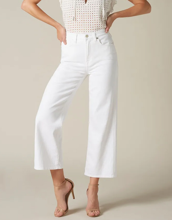 7 For All Mankind Cropped Alexa - Pure White