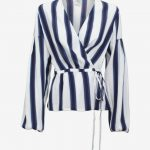 Baum Und Pferdgarten Monia Top - Blue Nautical Stripe