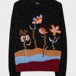 Paul Smith Woodblock Floral Intarsia Jumper - Black