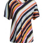 SET Diagonal Striped Top - Multi
