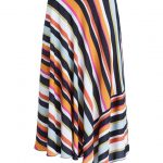 SET Striped Midi Skirt - Multi