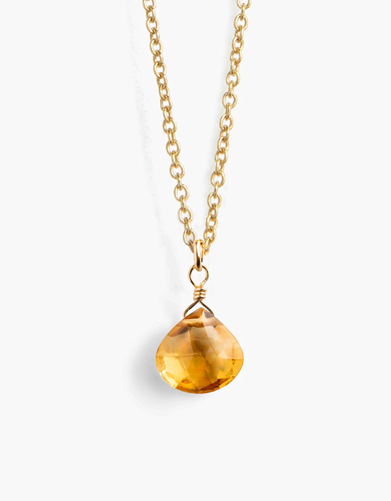 Wanderlust Life Fine Gold Chain Necklace - Citrine