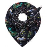 POM Amsterdam Double Sided Scarf - Mysterious Masks By Katja
