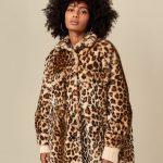 Bellerose Jamie Reversible Coat - Leopard/Khaki