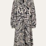 Stine Goya Rosen Dress - Zebra Black