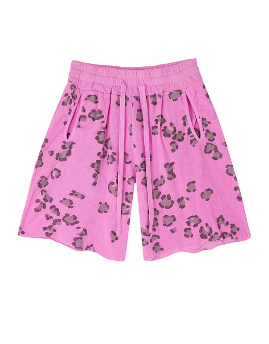 Jumper 1234 Terry Leopard Shorts - Neon Pink